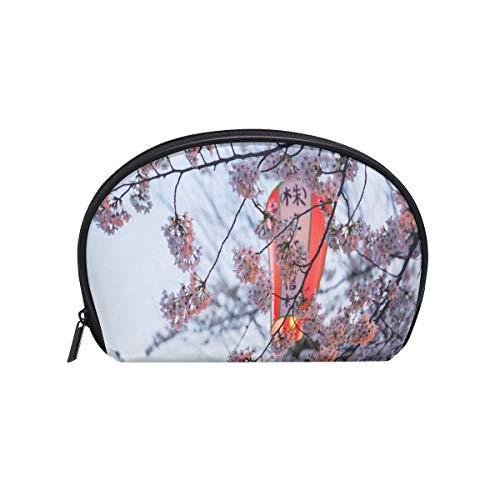 Flowering Trunk (Makeup Bag Beautiful Cherry Blossoms Are Flowering Around Jap Girls Travel Cosmetic Bag Womens Toiletry Organizer)