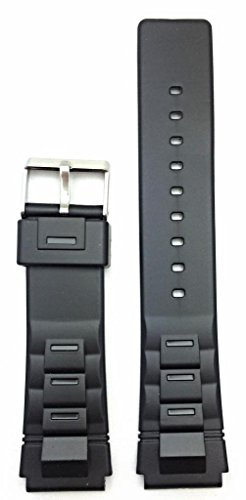 20mm Black Rubber Watch Band -- Comfortable and Durable PVC Material