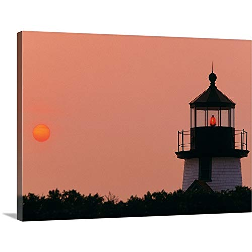 - GREATBIGCANVAS Gallery-Wrapped Canvas Entitled Brant Point Lighthouse Nantucket MA by 36
