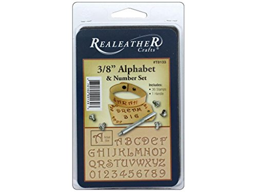 "Realeather 3/8"" Alphabet and Number Stamp Tool Set, Multicolor"