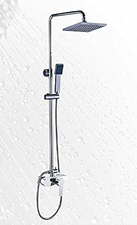 Platos de ducha y mamparas Conjunto de Ducha_PdM_ Nekka con Monomando: Amazon.es: Hogar