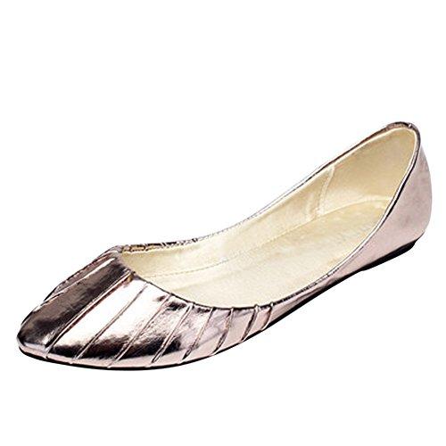 OCHENTA - Sandalias con cuña mujer - Golden and Silver