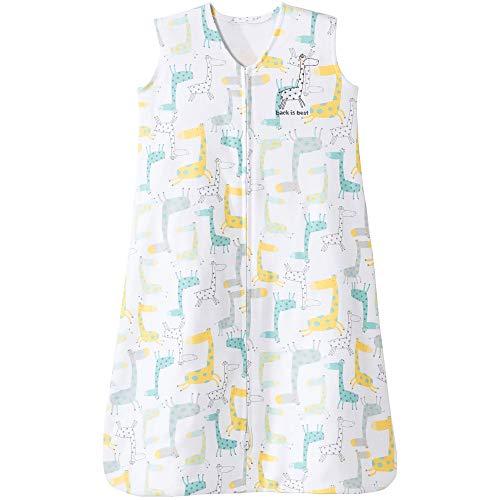 Halo Sleepsack Cotton Wearable Blanket, Neutral Giraffe, Medium