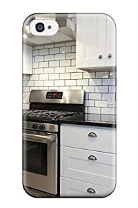 Iphone 4/4s Case Cover Skin : Premium High Quality Modern Kitchen With White Subway Tile Backsplash Case