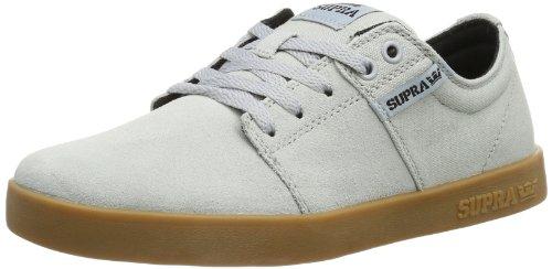Supra Mens Stacks Ii Sneaker Basso Grigio Scamosciato / Tela Grigia / Accenti Neri