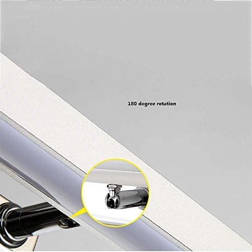 HIZLJJ 浴室の壁取り付け用燭台のための洗面化粧台照明器具LEDサテンnickleのスチールつや消しホワイトアクリルシェード (Color : White light, Size : S)