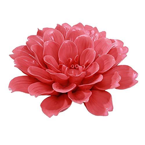 ALYCASO Wall Pediments Ceramics Flowers Wall Decoration Hangings Home Decoration,Scorpio Peony - Red,14