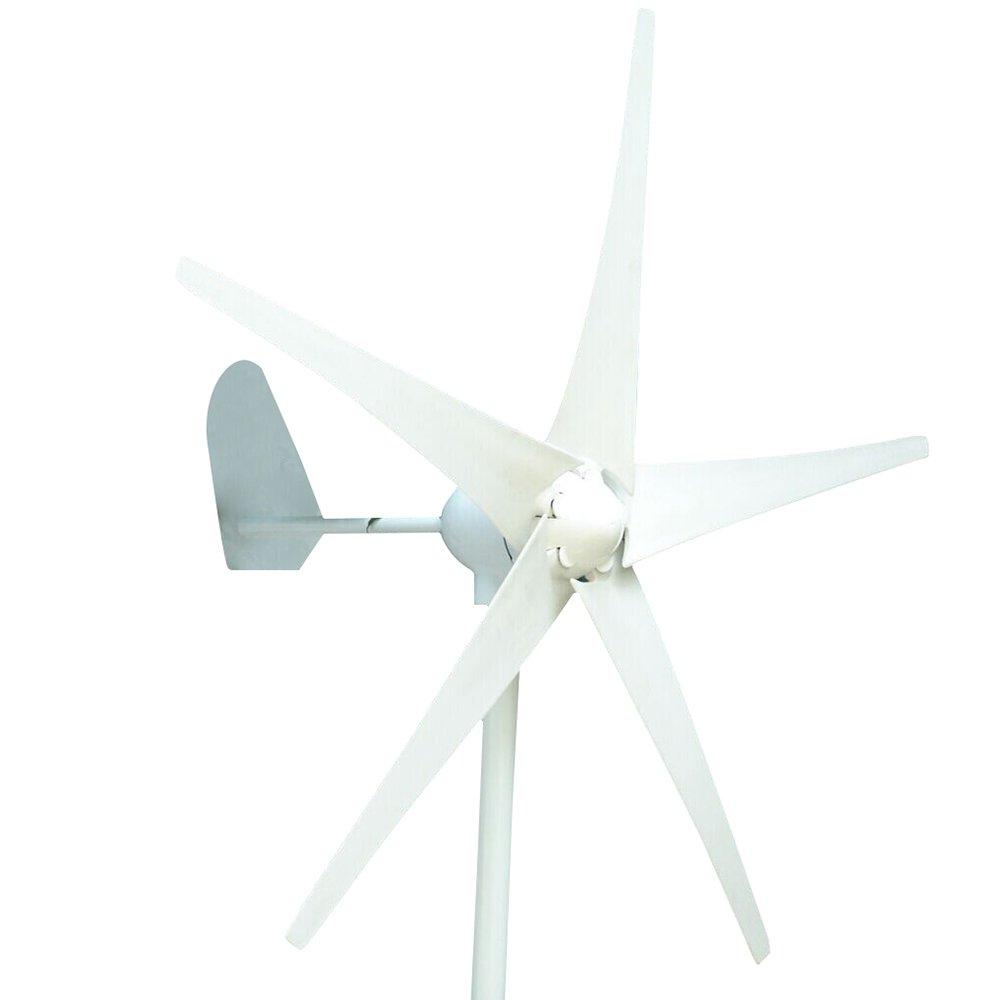 HUKOER (フコア) 風力発電機  防水ウインドコントローラーない NSKベアリング 5ブレード 低風速 効率的な風力発電機 (24V 300W) B06Y61BT11 24V 300W 24V 300W