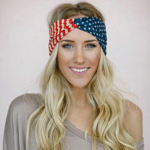 Shimmer Anna Shine Red White and Blue Patriotic American Flag Headband USA
