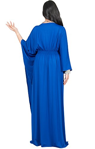 0a674ae36c3 Adelyn and Vivian Plus Size Women s Long Batwing Sleeve Cocktail Evening  Casual Kaftan Caftan Formal Floor Length Summer Abaya Moroccan Gown Gowns  Maxi ...