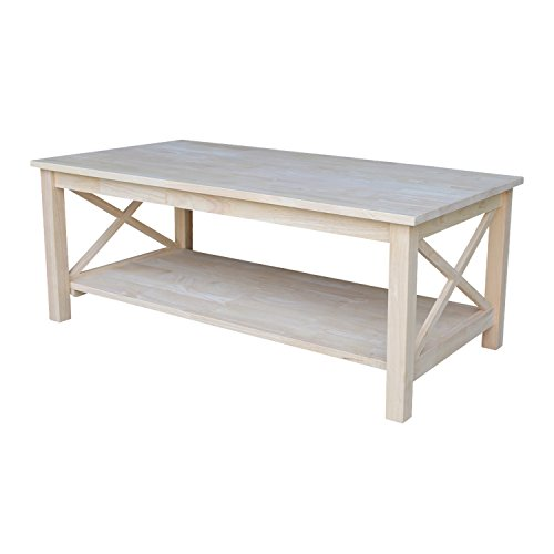 International Concepts OT-70C Hampton Coffee Table, Unfinished