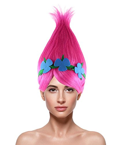 Princess Troll Wig, Pink Adult HW-1079