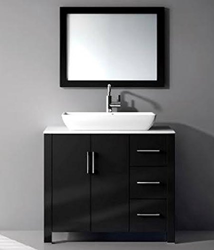 36-in Single Vanity Cabinet with Ceramic Sink combo set
