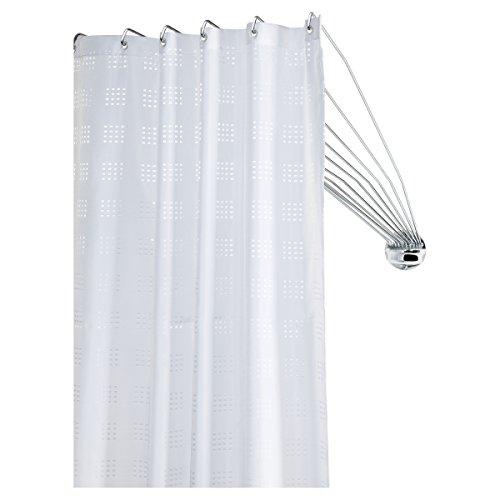 Sealskin 272226304 Duschspinne Umbrella Die Flexible Duschfaltkabine, Duchvorhangstange, Metall, chrom, 80 x 140 x 5 cm
