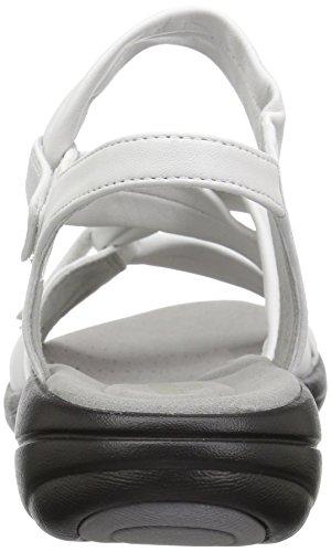 CLARKS Womens Saylie Moon Sandal, White Leather, 10 Medium US