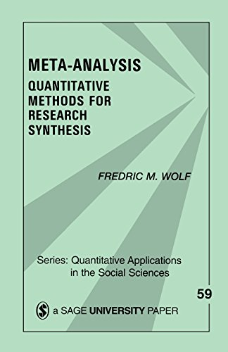 Meta-Analysis: Quantitative Methods For Research Synthesis (Quantitative Applications in the Social Sciences)