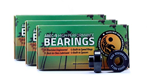 (Shiver Abec 9 with built-in spacers and speed rings. High performance (8 bearings- One package))
