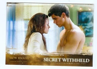 Shirtless Jacob Taylor Lautner trading card Twilight New Moon 2009 Summit #55 Kristen Stewart Bella Swan
