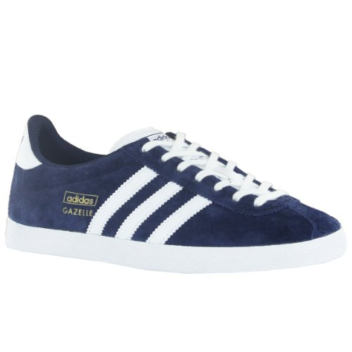Adidas Gazelle OG Blue White Womens Trainers Size 42 2/3 EU