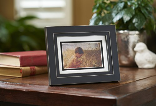 (Old Town 5x7 Black Vanilla Rub Wood Frame Matted for 5x7 photo, 4-pack - New Zealand Pine and Malaysian Durian for a Gallery Ready Presentation (4, Black Vanilla)
