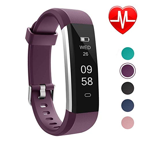 LETSCOM Unisex Adult Fitness Tracker, Slim Activity Tracker, Smart Pedometer Watch, Sleep Monitor, Step Counter, Calorie Counter, Waterproof Fitness Watch for Android Phones, Kids Women Men