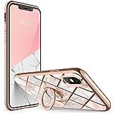 i-Blason Cosmo Snap, Capa Capinha Protetora para o iPhoneXs (2018) / iPhone X (2017), suporte fino para anel giratório embutido em 360 °, suporta carro (mármore)