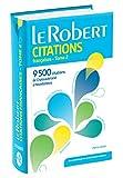 le robert dictionnaire de citations francaises tome 2 9500 citations de chateaubriand a houellebecq collection usuels poche french edition