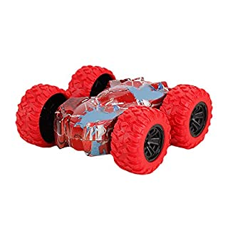 NOKMOPO Inertia-Double Side Stunt Graffiti Cars Kids Controlled Truck Off Road Crawler Toy for Boys Girls Birthday Gifts Red