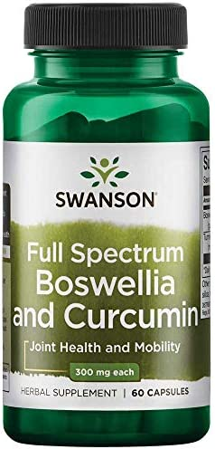 Swanson Full Spectrum Boswellia and Curcumin 60 Capsules Packing May Vary