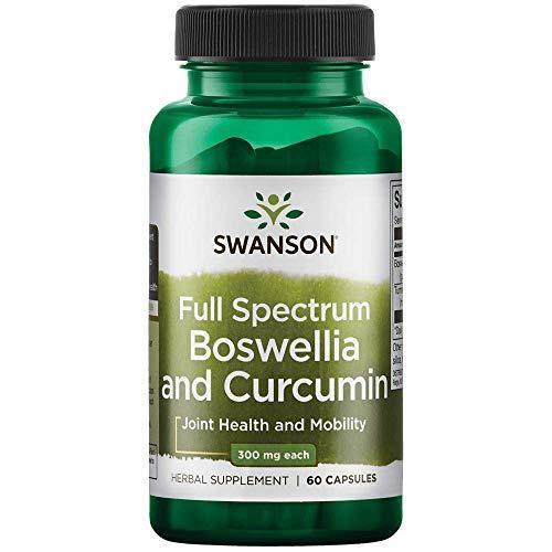 Swanson Full Spectrum Boswellia and Curcumin 60 Capsules(Packing May Vary)