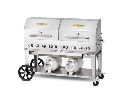 """Crown Verity 60"""" Club Grill with Roll Dome and Burn Rack ..."""