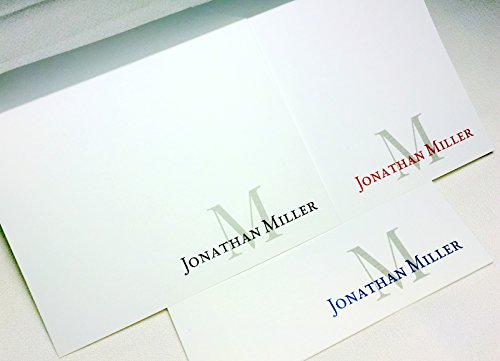 50 Personalized Note Cards with Initial Plus Full Name. Sets of 50 or 20. Custom Folding Cards with Matching envelopes. Many Font Color Choices and Styles. Beautiful Quality Cards! Blank Inside ()