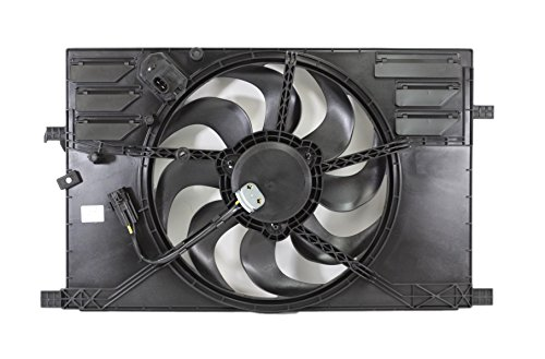 Dual Radiator and Condenser Fan Assembly - Cooling Direct For/Fit FI3115102 15-18 Jeep Renegade 2.4L 15-18 RAM Promaster 16-18 500X