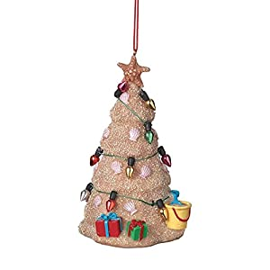 Best Epic Trends 413VevEvkSL._SS300_ Midwest Sand Beach Christmas Tree Hanging Resin Christmas Ornament (2 inch)