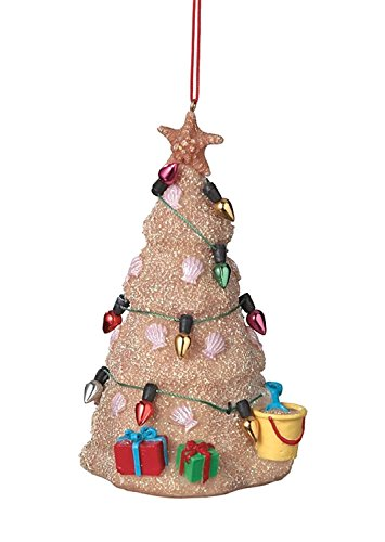 (Sand Beach Christmas Tree Hanging Resin Christmas)