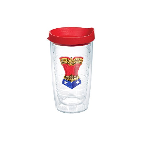 Tervis Wonder Woman Emblem Bottle with Red Lid, 16-Ounce, Warner Brothers by Tervis