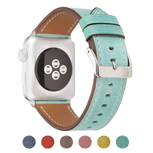 (Pantheon Compatible Apple Watch Band 42mm 44mm for Women - Leather Band Compatible iWatch Bands/Strap for Series 4 3 2 1)