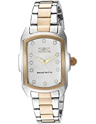 Invicta Womens Lupah Quartz Stainless Steel Casual Watch, Color:Two Tone (Model: 16285)