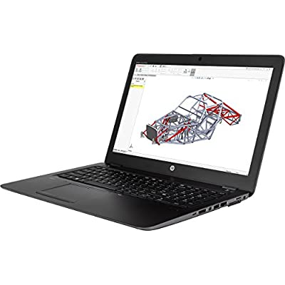 "HP Zbook 15u G4 Workstation 15.6"" Notebook, Windows, Intel Core i7 2.7 GHz, 16 GB RAM, 512 GB SSD, AMD FirePro W4190M , Space Silver (1BS35UT#ABA)"