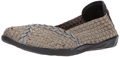 - Bernie Mev Women's Braided Catwalk Bronze/Pewter Flats - 37 EU/6.5-7 M US