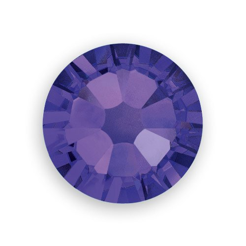 Flat Back Crystal Purple Velvet (Swarovski Crystal Flat Back Rhinestones (Glue-on) 2088 4mm (SS16) Purple Velvet Flat Back (Pack of 10))