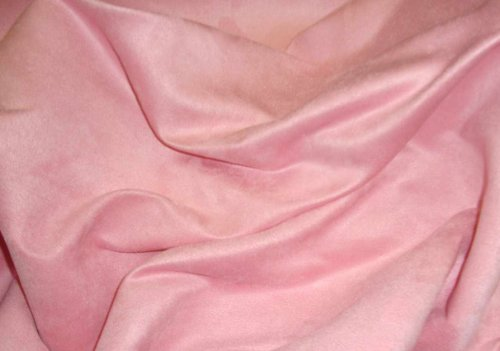 Pink Suede Upholstery Drapery Fabric Per Yard