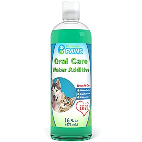 Fresh Breath Water Additive for Dogs and Cats - For Clean Teeth, Healthy Gums and Oral Care - 16oz (Food Return Policy)