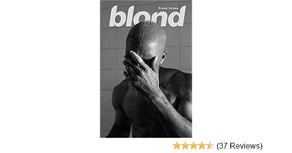 Poster Frank Ocean Blond Music 24in x 36in