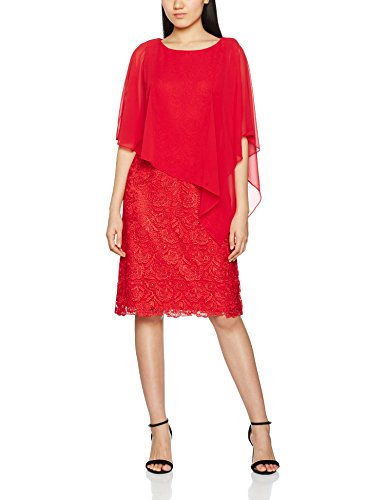 Bacconi Cape Chiffon Red Lace Red Robe Femme Gina and dnpadg