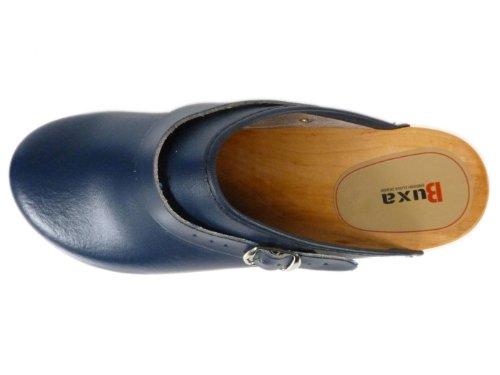 Unisex con in Buxa Cinturino Legno Pelle Regolabile Zoccoli Blu 5gqnwTx4