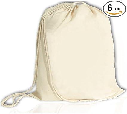 DRAWSTRING BAG 100/% COTTON ECO REUSABLE PLAIN GYM SCHOOL BACKPACK 25 COLOURS