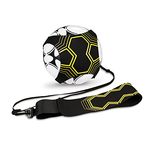 Football Kick Trainer Soccer Training Aid for Kids and Adults Hands Free Solo Practice With Belt Elastic Rope Universal Fits 3 4 5 Footballs (Training Tool Kit)