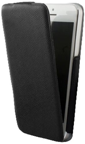 KSIX B0914FU82 Ultra Slim Flip Up Case für Apple iPhone 5 schwarz