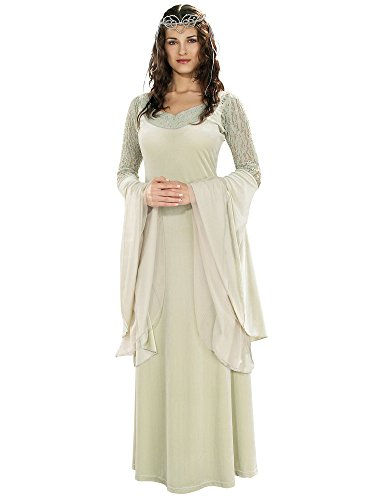 Rubie's Lord of The Rings Deluxe Queen Arwen Dress and Tiara, Green, -